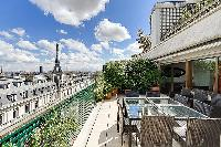 awesome view of the Eiffel Tower from Trocadero - Poincaré 2 bedrooms luxury apartment