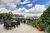 amazing balcony of Trocadero - Poincaré 2 bedrooms luxury apartment