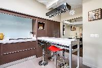 nice breakfast bar in Louvre Palais Royal IV luxury apartment