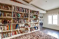 cool library of Louvre Palais Royal IV luxury apartment