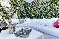 awesome patio fo Saint Germain des Prés - Penthouse View luxury apartment