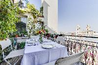 awesome balcony of Saint Germain des Prés - Penthouse View luxury apartment
