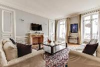 baroque high ceilings and hardwood floors 2-bedroom Paris luxury apartment