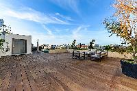 awesome wooden deck of Trocadero - Mandel 4 bedrooms luxury apartment