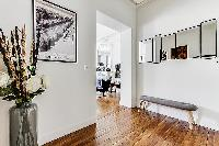 combination of old and modern design 2-bedroom Paris luxury apartment