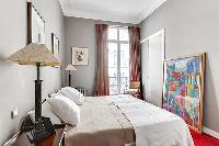 neat and fresh bedroom linens in Trocadero - Sheffer luxury apartment