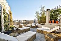 beautiful roof terrace of Passy - Raphael 3 Bedrooms luxury apartment