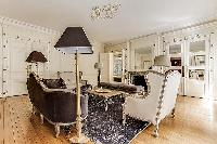 4-bedroom Paris luxury apartment furnished with beautiful furniture and fixtures