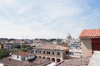 amazing view from Rome Vatican III luxury apartment