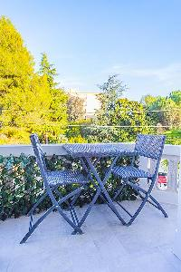 cool terrace furniture of Cannes - Church (Eglises) luxury apartment