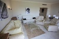 perky living room of Cannes - Les Dunes luxury apartment