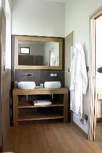 nice double-sink bathroom vanity in Cannes - Les Moufflets luxury apartment