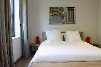 neat and nice bedroom linens in Cannes - Les Moufflets luxury apartment
