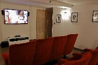 cool home theater of Cannes - Les Moufflets luxury apartment