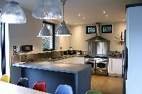 fully furnished kitchen of Cannes - Les Moufflets luxury apartment