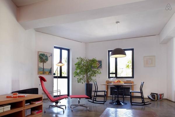 nice interiors of Athens - Atelier Basquiat Penthouse luxury apartment
