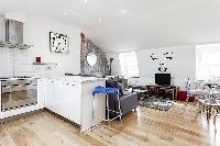 cool modern kitchen of London Kings Cross 2BR Penthouse luxury apartment