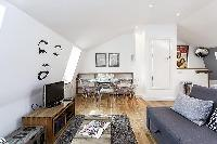 cool living room of London Kings Cross 2BR Penthouse luxury apartment