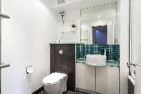 neat and trim toilet in London King's Cross 2-BR Penthouse luxury apartment