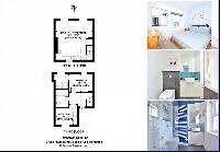 cool floor plan of London King's Cross 2-BR Penthouse luxury apartment