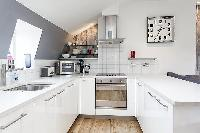 modern kitchen of London King's Cross 2-BR Penthouse luxury apartment