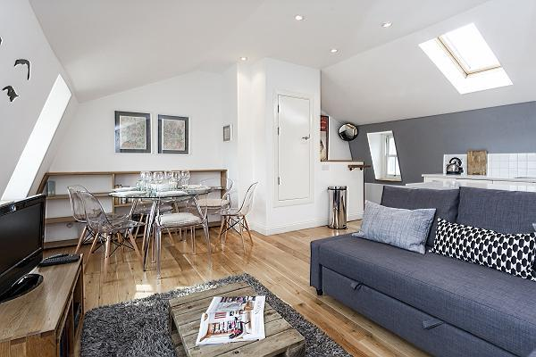 modern London King's Cross 2-BR Penthouse luxury apartment