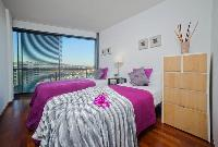 fresh and clean bedroom linens in Barcelona - Victoria Diagonal Mar luxury apartment