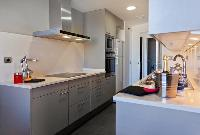 cool modern kitchen of Barcelona - Victoria Diagonal Mar luxury apartment
