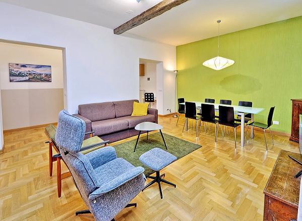 awesome living room of Rome - Trastevere Dandolo luxury apartment