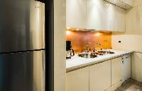 awesome kitchen of Rome - Colosseum View 5BR luxury apartment