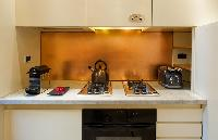 swanky kitchen of Rome - Colosseum View 5BR luxury apartment