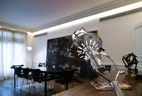 dining area for eight elegantly designed furnishings in paris luxury apartment