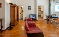 awesome open-plan living room of Rome - Vatican Terrace 1BR luxury apartment