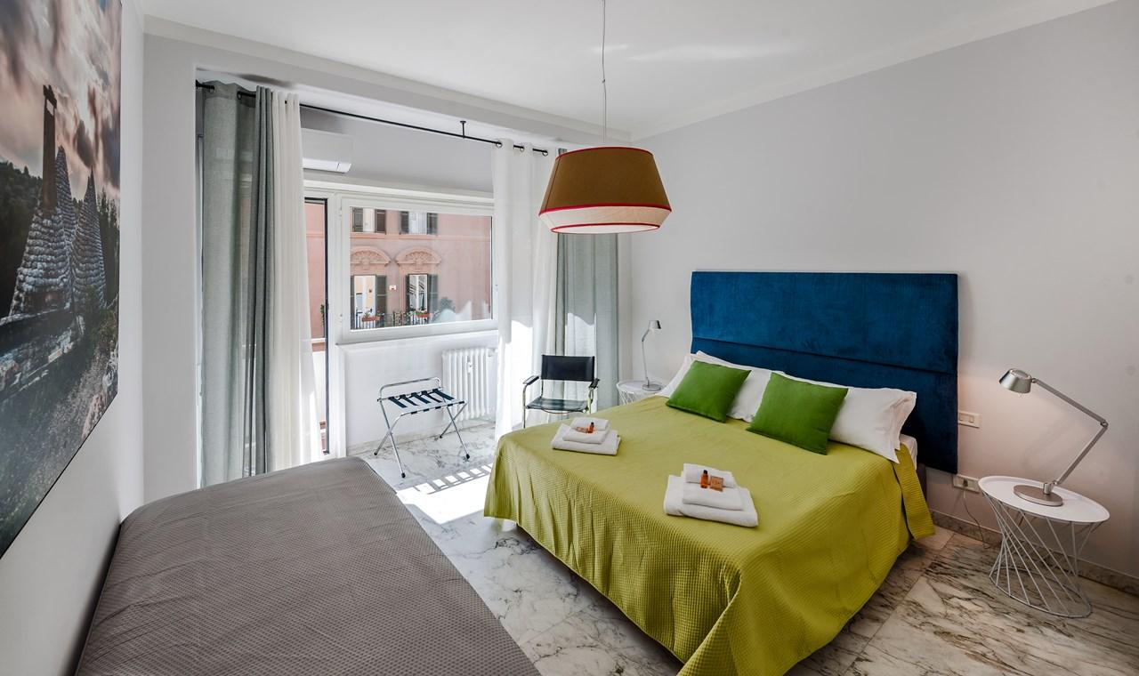 charming bedroom of Rome - Vatican Terrace 1BR luxury apartment
