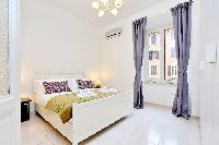 fresh and clean bedroom linens in Rome - Charming Vatican Museums 3BR luxury apartment