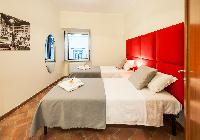 pristine bed sheets and pillows in Rome - Luxury Navona Terrace 2BR luxury apartment