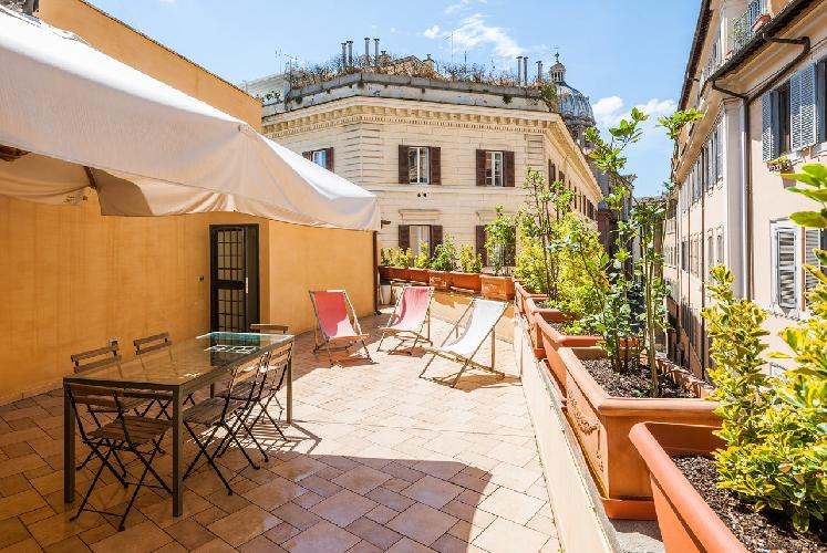 awesome deck and patio of Rome - Luxury Navona Terrace 2BR luxury apartment