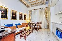 fascinating coffered ceiling of Rome - Boccaccio Trevi Fountain 2BR luxury apartment