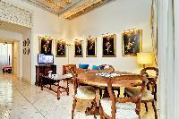beautiful dining room of Rome - Boccaccio Trevi Fountain 2BR luxury apartment
