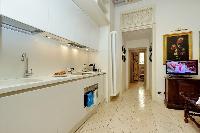 cool modern kitchen of Rome - Boccaccio Trevi Fountain 2BR luxury apartment