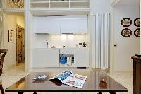 awesome kitchen of Rome - Boccaccio Trevi Fountain 2BR luxury apartment