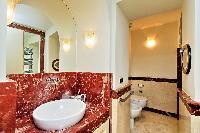 fascinating bathroom interiors of Rome - Boccaccio Trevi Fountain 2BR luxury apartment