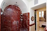 refreshing shower in Rome - Boccaccio Trevi Fountain 2BR luxury apartment
