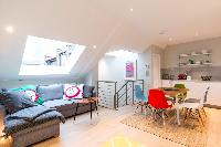 adorable open-plan living room of London Hanbury Street 2BR luxury apartment