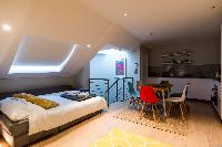 cool mezzanine of London Hanbury Street 2BR luxury apartment
