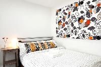 funky wall art in London Charming and Modern Camden luxury apartment