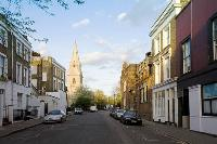 charming buildings on the street fo Designer Central London Home