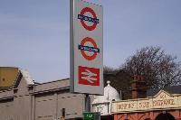 signage of Highbury tube station near Designer Central London Home