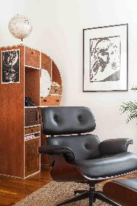 plush recliner with ottoman in London Boutique East London Home luxury apartment