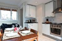 modern kitchen with late-model appliances and fittings in London City of London Penthouse luxury apa